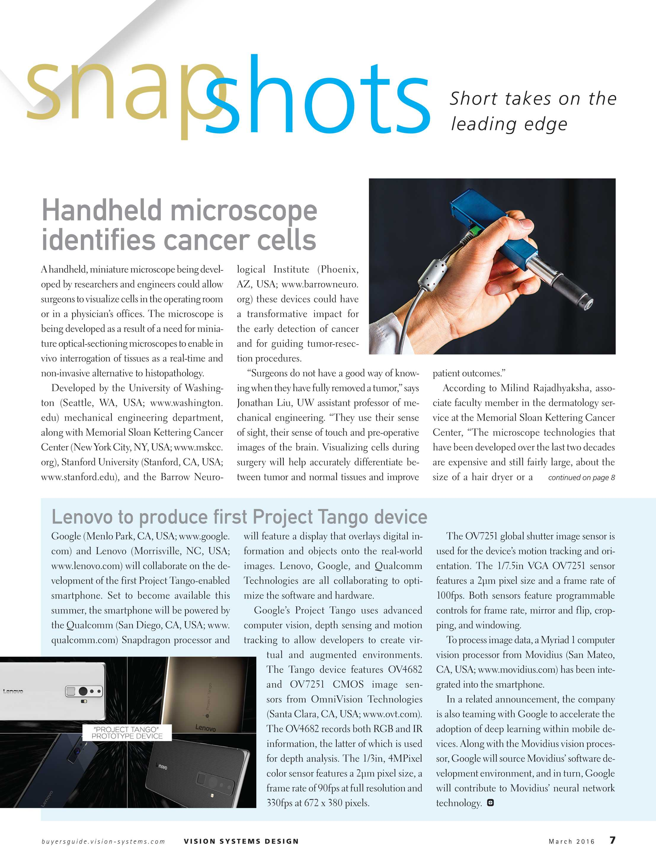 Vision Systems - March 2016 - page 7