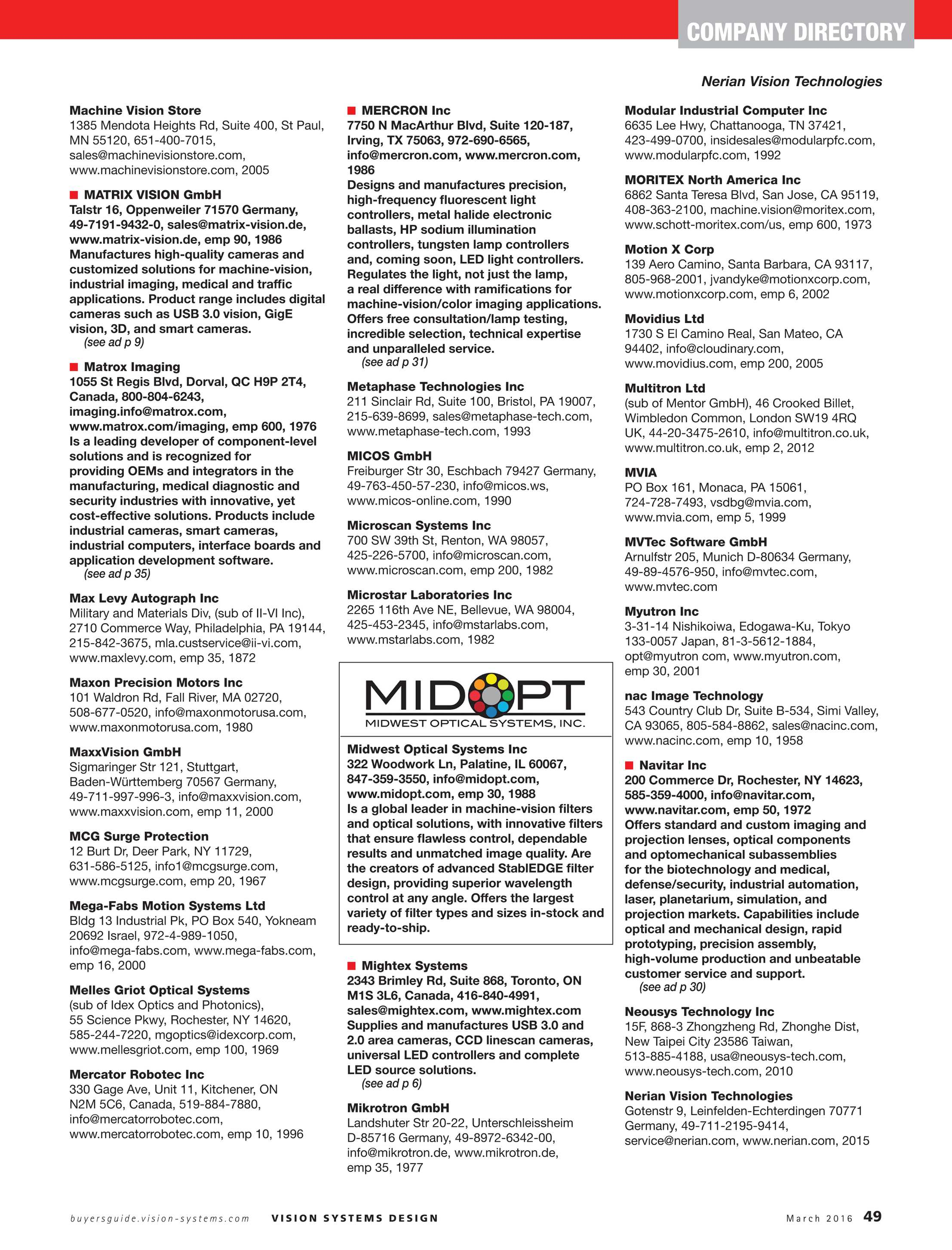 Vision Systems - March 2016 - page 49