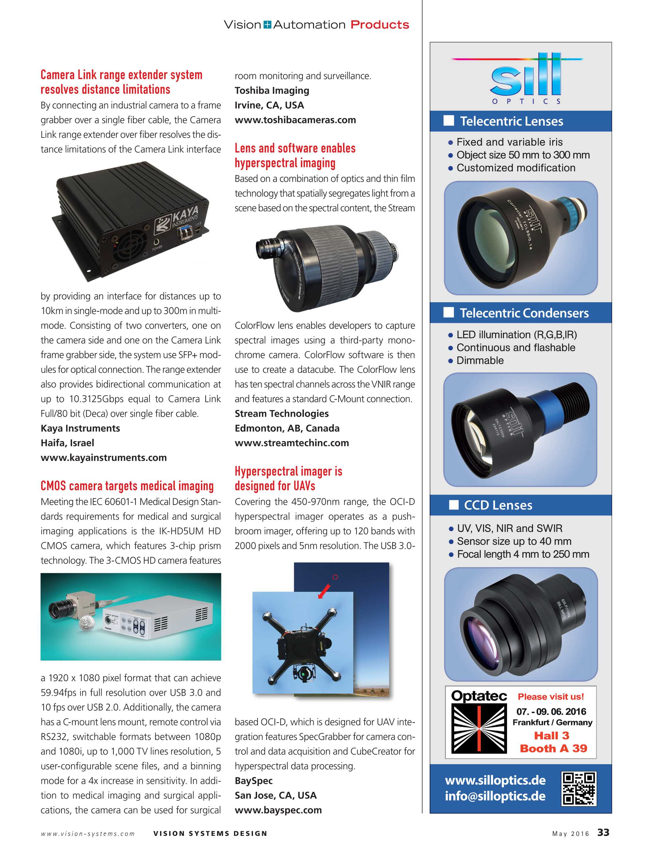 Vision Systems - May 2016 - page 33