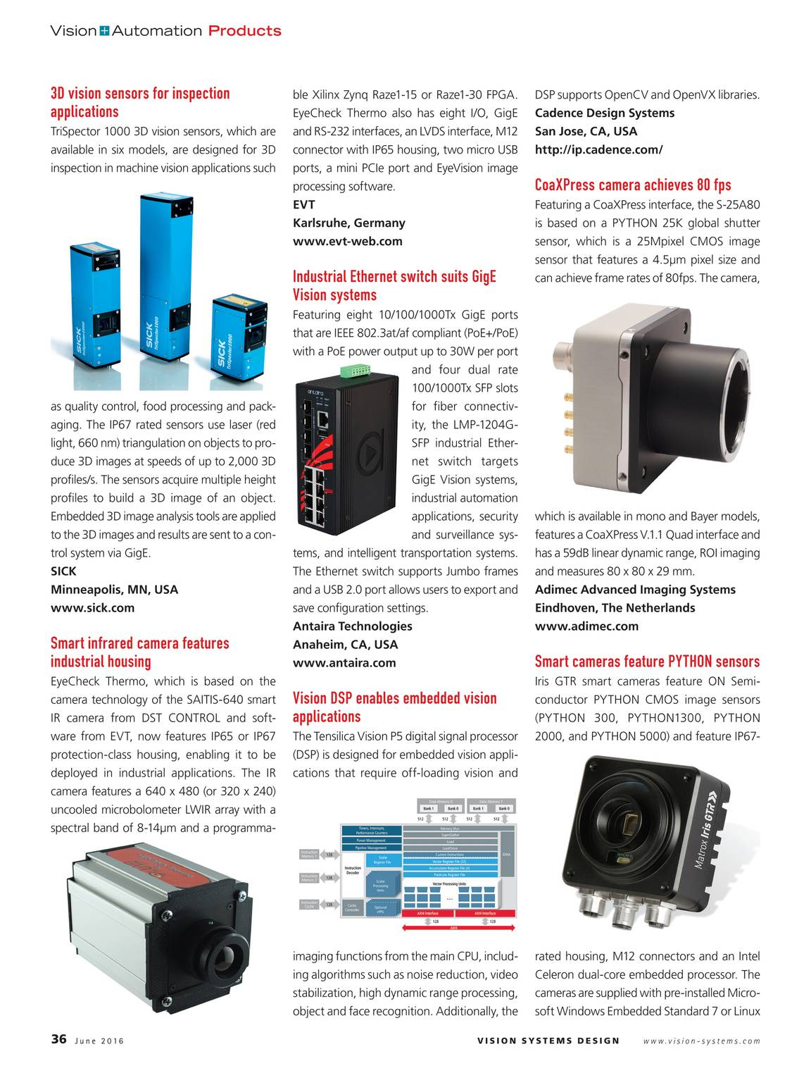 Vision Systems - June 2016 - page 36