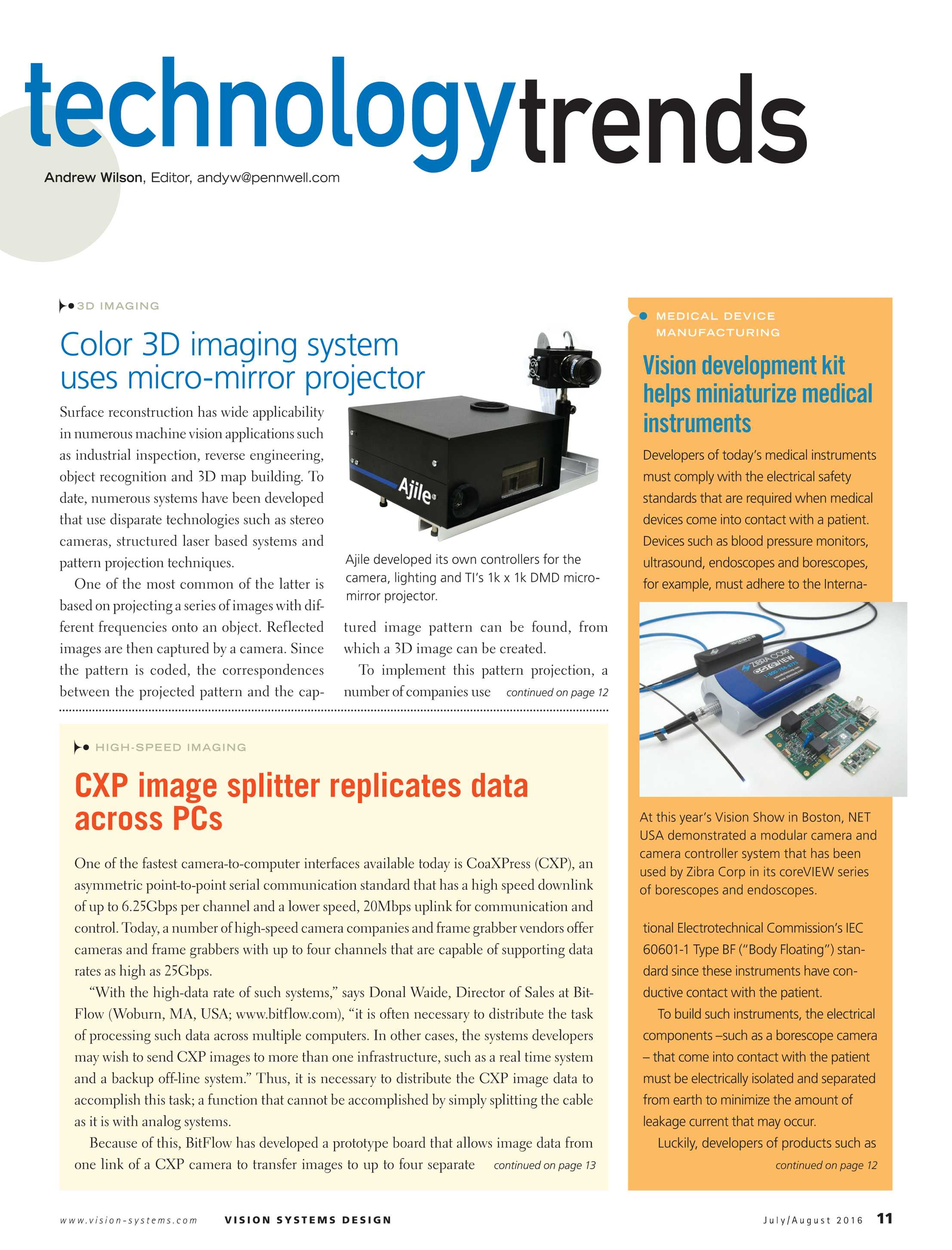 Vision Systems - July/August 2016 - page 11
