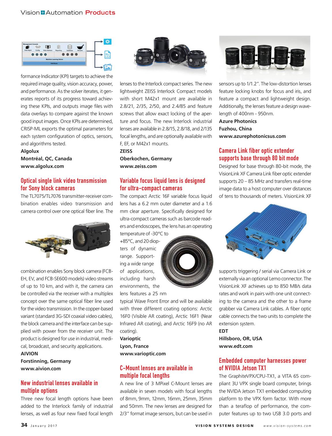 Vision Systems - January 2017 - page 34