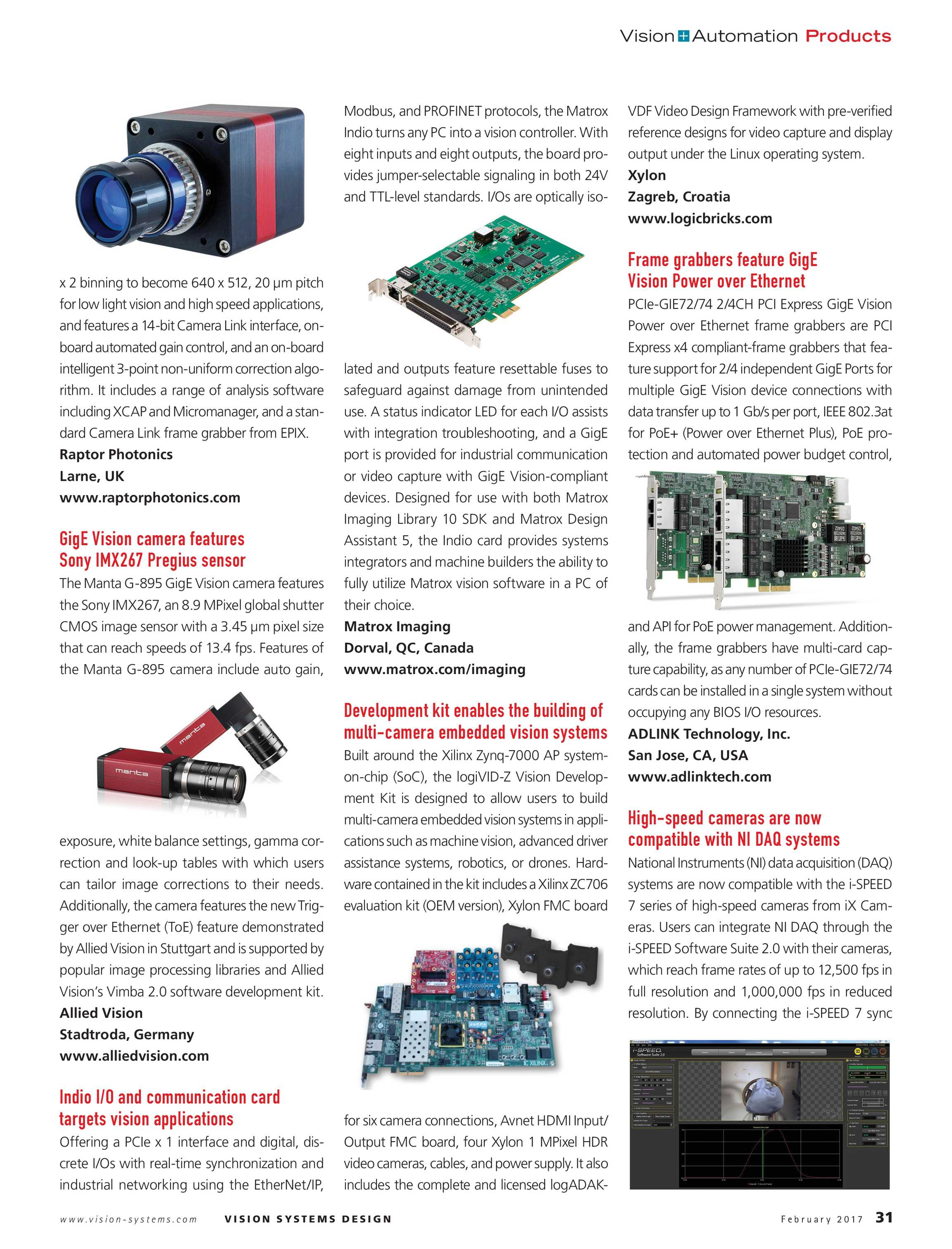 Vision Systems - February 2017 - page 31
