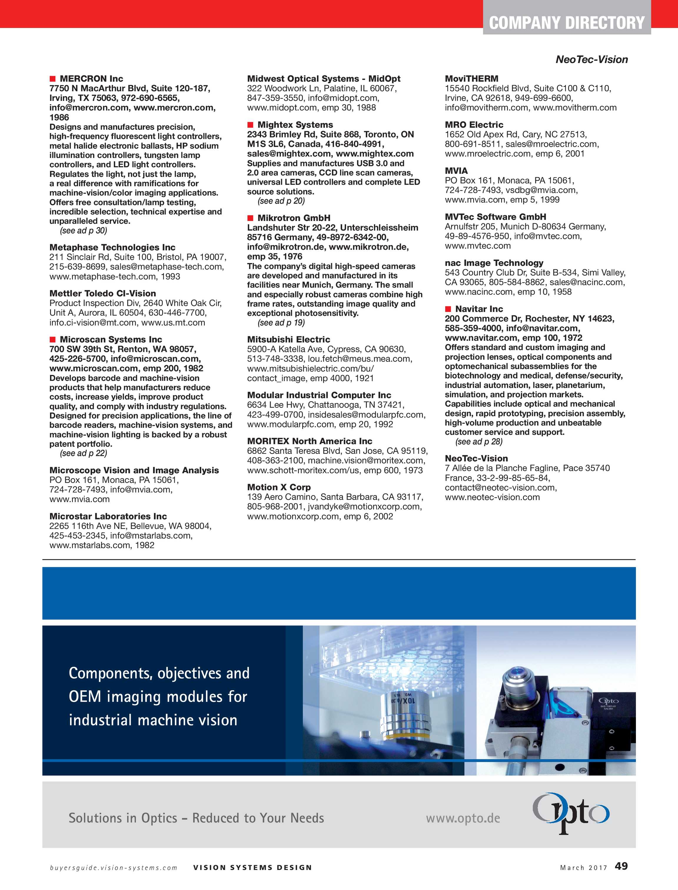 Vision Systems - March 2017 - page 49