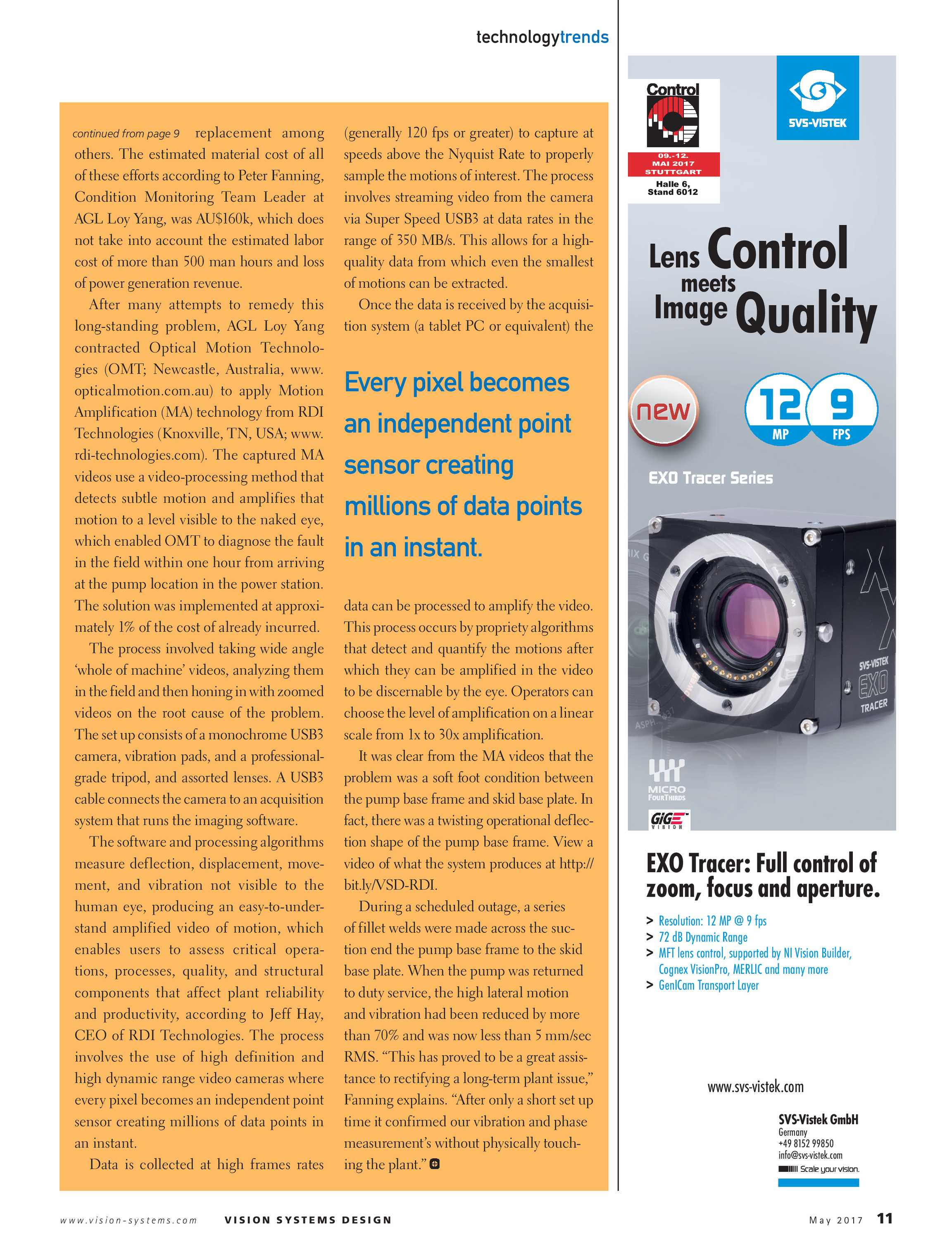 Vision Systems - May 2017 - page 11