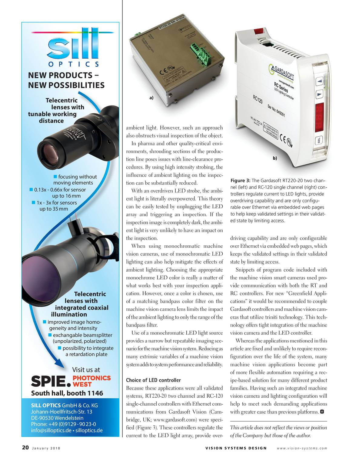 Vision Systems January 2018 Page 21 Rotative Speed Regulator Borer Driller Controller 20