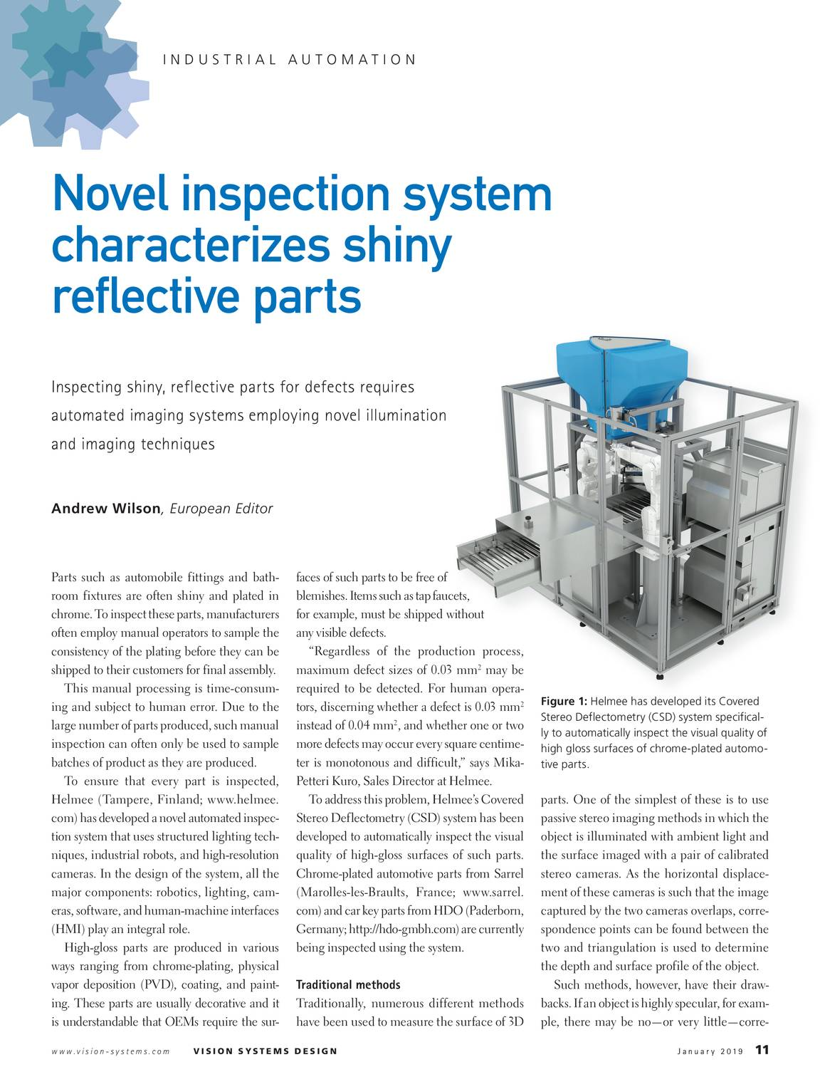Vision Systems - January 2019 - page 11