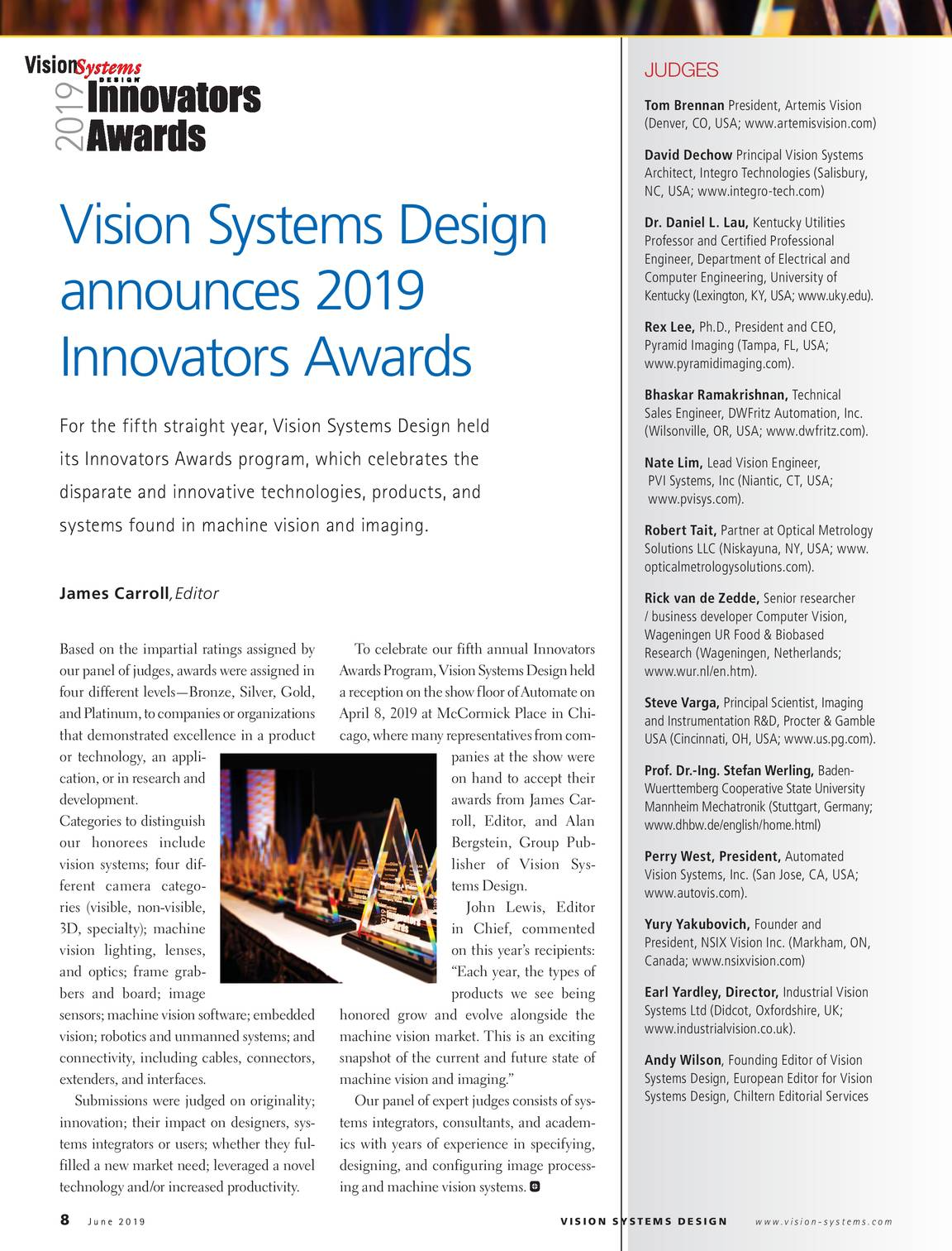 Vision Systems June 2019 Page 8