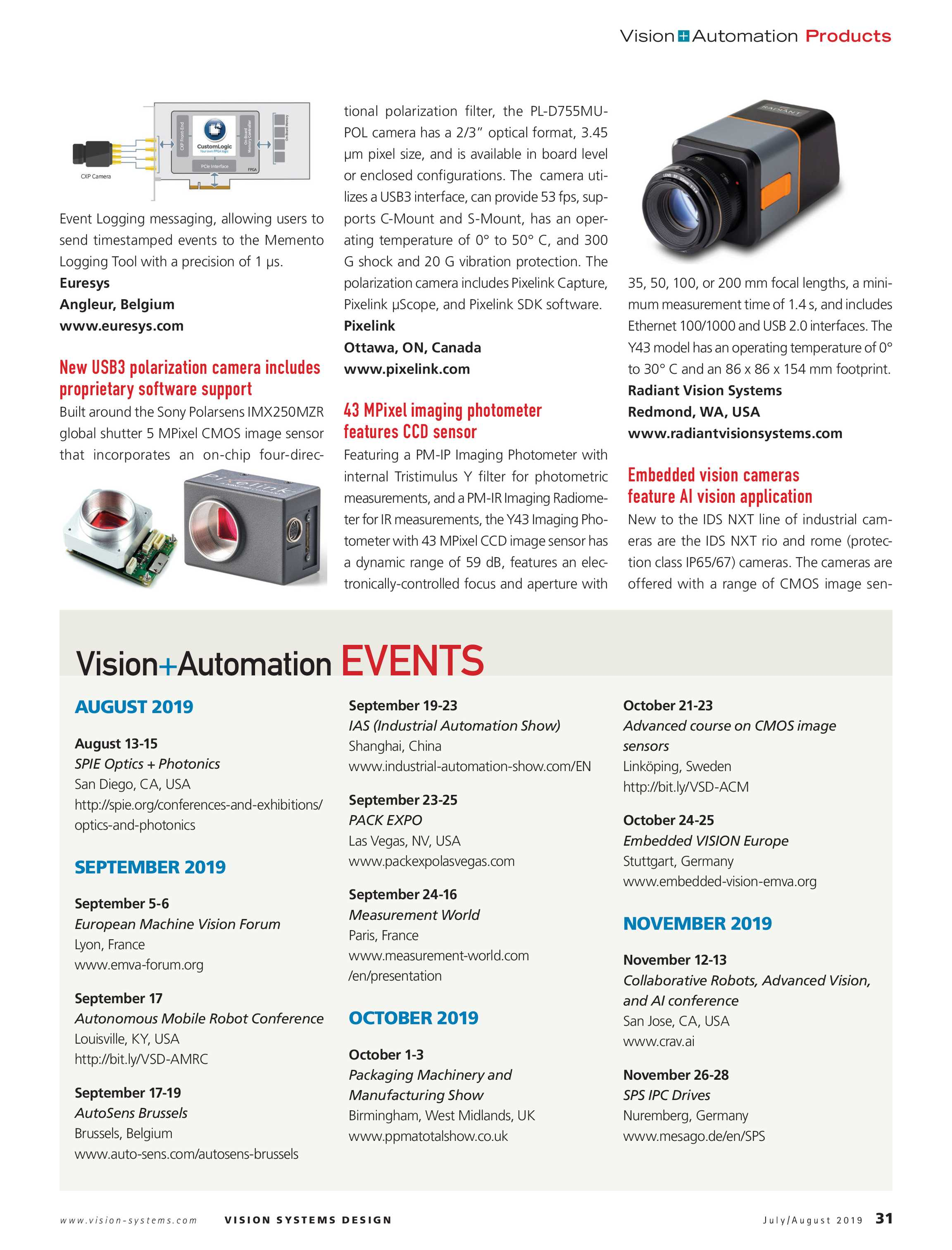 Vision Systems - July 2019 - page 31